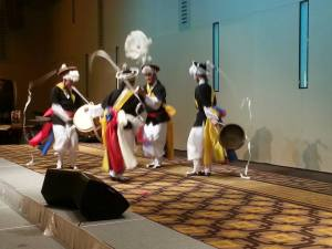 The performance - traditional Korean musicians